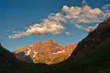 View Southwest to Maroon Peaks in the Maroon - Snowmass Wilderness Area Photographic Print by David Hiser