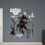 Connor Sprinting: Assassin's Creed III Wall Decal Sticker Wall Decal