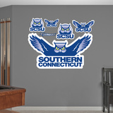 NCAA Southern Connecticut Logo Wall Decal Sticker Wall Decal