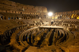 Rome's Colosseum and Hypogeum At Night Photographic Print by Dave Yoder