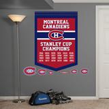 NHL Montreal Canadiens Stanley Cup Championships Banner Wall Decal Sticker Wall Decal