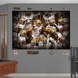 New Orleans Saints NO Saints 2012 Huddle Mural Decal Sticker Wall Decal