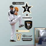 Vanderbilt Commodores David Price Vanderbilt Wall Decal Sticker Wall Decal