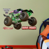 Monster Trucks Grave Digger - Fathead Jr. Wall Decal Sticker Kalkomania ścienna