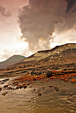 Tavurvur, a 2,257-foot-high Stratovolcano Erupting Ash and Steam Photographic Print by Steve And Donna O'Meara