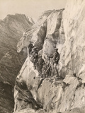 Climbers Scale the Nisqually Glacier Photographic Print by H.B. Cunningham