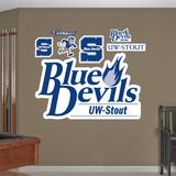 NCAA Wisconsin Stout Logo Wall Decal Sticker Wallstickers