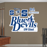 NCAA Wisconsin Stout Logo Wall Decal Sticker Wall Decal