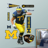 NCAA/NFLPA Michigan Wolverines Jake Long Wall Decal Sticker Wall Decal