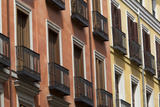 Windows with Balconies in Downtown Madrid Photographic Print by Joe Petersburger