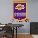 NBA Los Angeles Lakers Championships Banner Wall Decal Sticker Wall Decal