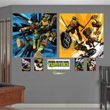 Teenage Mutant Ninja Turtles Dual Action Murals Decal Sticker Autocollant mural