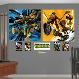 Teenage Mutant Ninja Turtles Dual Action Murals Decal Sticker Wallstickers
