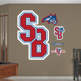 NCAA Stony Brook Seawolves Logo Wall Decal Sticker Wall Decal