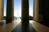 A Man Looking From the Lincoln Memorial to the Washington Monument Photographic Print by Dan Westergren