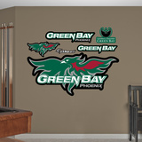 NCAA Wisconsin Green Bay Logo Wall Decal Sticker Wall Decal