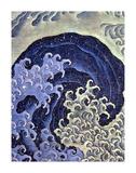 Feminine Wave Hokusai Art Print Poster Photo