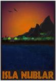 Isla Nublar Retro Travel Poster Fotky