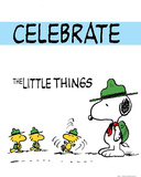 Peanuts Celebrate the Little Things Comic Poster Print