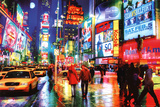 New York Times Square Photography Poster Obrazy