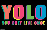 YOLO You Only Live Once Poster Posters