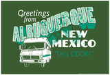 Greetings From Albuquerque New Mexico Snorg Tees Poster Print