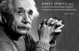 Albert Einstein Great Minds Motivational Poster - Reprodüksiyon