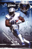 Calvin Johnson Jr. Detroit Lions NFL Sports Poster Posters