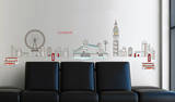 London Wall Decal Sticker Vinilo decorativo
