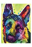 German Shepherd Print van Dean Russo