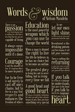 Nelson Mandela Words and Wisdom Motivational Poster Posters