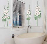 Hollyhocks Wall Decal Sticker Wall Decal