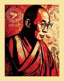 Dalai Lama Compassion Graffiti Poster Print
