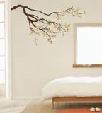 白い花ウォールステッカー・壁用シール ウォールステッカー
