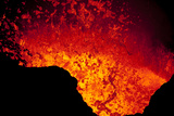 Lava Lake At Marum Crater Photographic Print by Ulla Lohmann