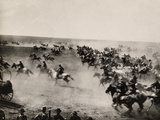 Riders Race Through the Cherokee Strip Photographic Print by  Tulsa Chamber of Commerce