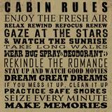 Cabin Rules Kunst av Jim Baldwin