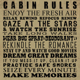 Cabin Rules Art by Jim Baldwin