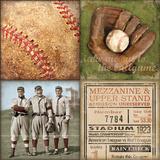 Baseball 4 Patch Poster von Stephanie Marrott