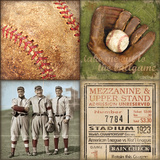 Baseball 4 Patch Posters by Stephanie Marrott