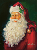 Santa Prints by Susan Comish
