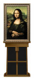 Mona Lisa by da Vinci on Museum Easel Fine Art Lifesize Standup Poster Stand Up