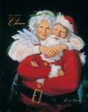 Mr. and Mrs. Claus Prints by Susan Comish