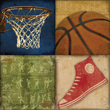 Basketball 4Patch Prints by Stephanie Marrott