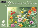 Yellowthroat & Zinnias 1000 Piece Jigsaw Puzzle Jigsaw Puzzle