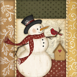 Country Snowman Posters by Jennifer Pugh
