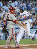 Los Angeles, CA - June 27: Yasiel Puig Photographic Print