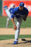 Oakland, CA - August 05: Steve Delabar Photographic Print
