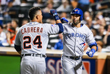 New York, NY - July 16: American League All-Star Jose Bautista and Miguel Cabrera Photographic Print