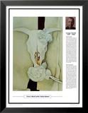 Obras maestras del siglo veinte: Georgia O'Keeffe, calavera de vaca con rosas cálico Láminas por Georgia O'Keeffe